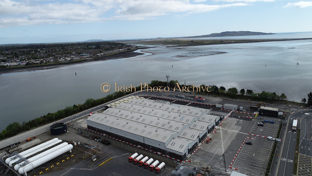 Aerial Still images around Dublin Port during COVID 19 lockdown, Stenna, CLdN, P&O, Cobbelfreight, Tolka Quay, Alexander Rd, Terminal 1,2 ,3, River Liffey, EXO, Building, East Link, Bridge, River Liffey, Samual Beckett Bridge, Capitol Dock, North Quay, Wall, Coast Road, Howth,