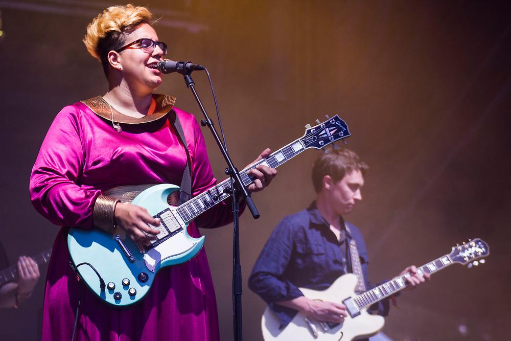 Alabama Shakes performing at Bonnaroo in Manchester, TN on June 12, 2015.