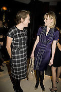 """Justine Picardie and Sophie Dahl, """"Vogue"""" Covers: by Robin Derrick  and  Robin Muir. Chanel. Brompton Rd. London. 17 October 2007. -DO NOT ARCHIVE-© Copyright Photograph by Dafydd Jones. 248 Clapham Rd. London SW9 0PZ. Tel 0207 820 0771. www.dafjones.com."""