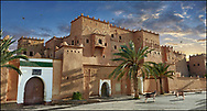 Towering Delusions - Exterior of the iconic mud brick Kasbah of Taourirt, Ouarzazate, Morocco, built by Pasha Glaoui. A Unesco World Heritage Site. By Paul Williams
