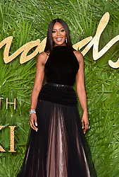 Naomi Campbell attending the Fashion Awards 2017, in partnership with Swarovski, held at the Royal Albert Hall, London. Picture Date: Monday 4th December, 2017. Photo credit should read: Matt Crossick/PA Wire