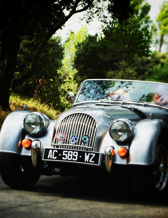 Weekends in Provence are for driving.  We caught this Morgan outside the village of Cotignac.  The South of France is laced with interesting roads, great fun for drivers and bikers alike.