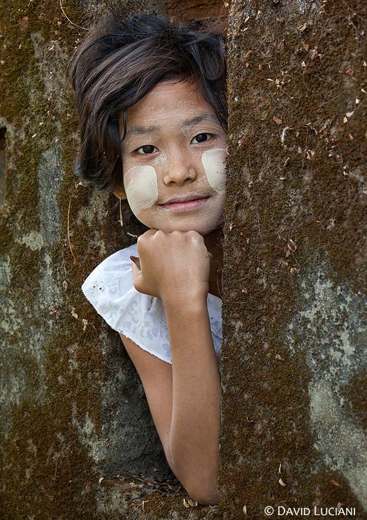 A girl posing near my guesthouse in Mrauk U.