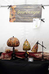11 July 2015:  A mix of unique and distinctive works by GourDeisgns of Mattoon Illinois displayed at the 2015 Sugar Creek Arts Festival in Uptown Normal Illinois
