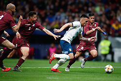 March 22, 2019 - Madrid, MADRID, SPAIN - Cristian Pavon of Argentina during the international friendly football match played between Argentina and Venezuela at Wanda Metropolitano Stadium in Madrid, Spain, on March 22, 2019. (Credit Image: © AFP7 via ZUMA Wire)