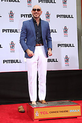 Pitbulll Hand and Footprint Ceremony. 14 Dec 2018 Pictured: Pitbull. Photo credit: FS/MPI/Capital Pictures / MEGA TheMegaAgency.com +1 888 505 6342