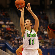 Natalia Achonwa, Notre Dame, in action during the Notre Dame Fighting Irish V Louisville Cardinals Semi Final match during the Big East Conference, 2013 Women's Basketball Championships at the XL Center, Hartford, Connecticut, USA. 11th March. Photo Tim Clayton