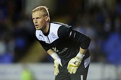 Kasper Schmeichel (DEN) of Leicester City looks on - Photo mandatory by-line: Rogan Thomson/JMP - 07966 386802 - 14/04/2014 - SPORT - FOOTBALL - Madejski Stadium, Reading - Reading v Leicester City - Sky Bet Football League Championship.