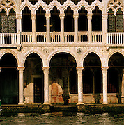 The Ca' d'Oro (Golden House), the Palazzo Santa Sofia on the Grand Canal in Venice, Italy