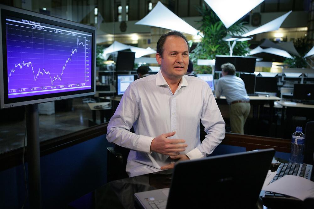 Willem Middelkoop, stock market analyst // Willem Middelkoop, publicist en beursanalist.