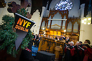 NO FEE PICTURES<br /> 1/1/16 Singers from Our Lady's Choral Society join The Dublin Handelian Orchestra for a free performance of Handel's Messiah watched by a full house at Findlaters Church, part of the New Years Festival in Dublin. nyf.com running from 30th Dec to 1st Jan in Dublin. Picture: Arthur Carron