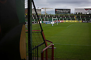 A view across the ground towards the away end at The Oval, Belfast, pictured before Glentoran hosted city-rivals Cliftonville in an NIFL Premiership match. Glentoran, formed in 1892, have been based at The Oval since their formation and are historically one of Northern Ireland's 'big two' football clubs. They had an unprecendentally bad start to the 2016-17 league campaign, but came from behind to win this fixture 2-1, watched by a crowd of 1872.