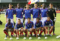 Fotball<br /> UEFA U17 Championships<br /> 04.05.2007<br /> Frankrike<br /> Foto: Imago/Digitalsport<br /> NORWAY ONLY<br /> <br /> Mannschaftsfoto Frankreich U17, hi. v.li.: Omar Benzerga, Alfred N Diaye, Mathieu Saunier, Damien Le Tallec, Mamadou Sakho und Torwart Mathieu Gorgelin, vorn v.li.: Henri Saivet, Thibault Bourgeois, Nicolas Seguin, Yann M Vila und Abdel El Kaoutari<br /> <br /> Lagbilde Frankrike