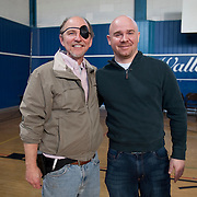 Jamie Nabozny, who suffered hate crimes while a gay teenager in high school, with film producer Bill Brummel.