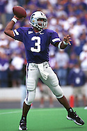 Kansas State quarterback Ell Roberson passes the ball down field during game action against North Texas at KSU Stadium in Manhattan, Kansas in 2000.