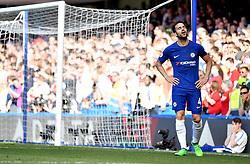 Chelsea's Cesc Fabregas appears dejected during the Premier League match at Stamford Bridge, London.