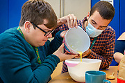 Support worker with service user baking.<br /> Client  - Allerton, an integrated social care, housing, and development company.