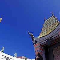 USA, California, Los Angeles. TCL Chinese Theater in Hollywood, and iconic landmark.