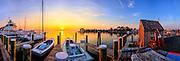 St Michaels Maryland boat dock at sunrise