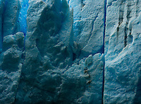 A detail shot of the edge of Glacier Grey in Torres del Paine National Park, Chile.