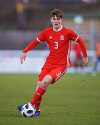 BANGOR, WALES - Saturday, November 17, 2018: Wales' Morgan Boyes during the UEFA Under-19 Championship 2019 Qualifying Group 4 match between Sweden and Wales at the Nantporth Stadium. (Pic by Paul Greenwood/Propaganda)