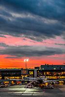 Sunrise, Frankfurt am Main Airport, Frankfurt, Germany.