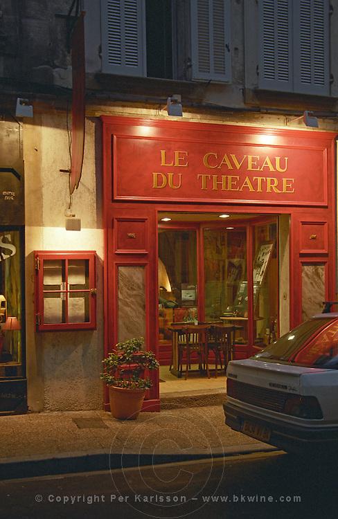 Le Caveau du Theatre restaurant. Avignon. Rhone Valley, France