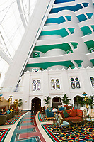 Interior view, Burj al Arab Hotel, Dubai, United Arab Emirates