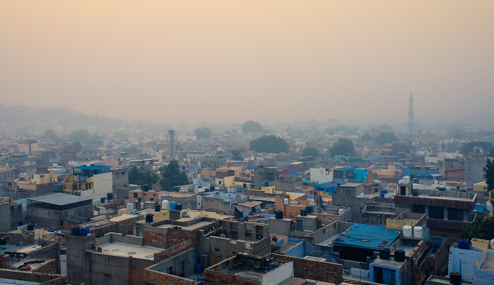JODHPUR, INDIA - CIRCA NOVEMBER 2016:  Panoramic view of Jodhpur