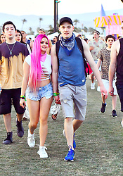 Ariel Winter was spotted wearing a pinkish magenta wig along with a racy outfit while attending the Coachella Music Festival with boyfriend Levi Meaden in Indio, CA. The 'Modern Family' star and her boyfriend walked hand in hand as they walked the field of the festival enjoying the music and art sculptures. 15 Apr 2017 Pictured: Ariel Winter was spotted wearing a pinkish magenta wig along with a racy outfit while attending the Coachella Music Festival with boyfriend Levi Meaden in Indio, CA. The 'Modern Family' star and her boyfriend walked hand in hand as they walked the field of the festival enjoying the music and art sculptures. Photo credit: Marksman / MEGA TheMegaAgency.com +1 888 505 6342