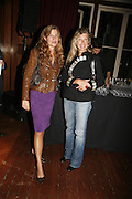 Isabelle May and Miska Lovegrove, Established and Sons celebrate the launch of a Red Production 'Aqua Table' by Zaha Hadid. ( Profits from Sales will go to Red Campaign HIV treatment in Africa) Grosvenor Place. London. 23 September 2006.  ONE TIME USE ONLY - DO NOT ARCHIVE  © Copyright Photograph by Dafydd Jones 66 Stockwell Park Rd. London SW9 0DA Tel 020 7733 0108 www.dafjones.com