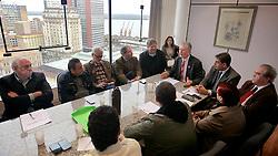 O candidato José Fortunati durante reunião com o seu vice Sebastião Melo, e outras lideranças políticas para definir o plano de governo. FOTO: Jefferson Bernardes/Preview.com
