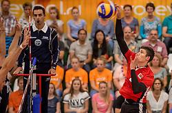 24-09-2016 NED: EK Kwalificatie Nederland - Wit Rusland, Koog aan de Zaan<br /> Nederland verliest de eerste twee sets / Pavel Audochanka #2