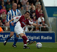 Photo: Ian Hebden.<br />Northampton Town v Chester City. Coca Cola League 2. 29/04/2006.<br />Northamptons Scott McGleish shoots.