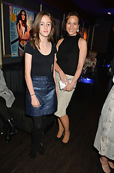 Left to right,A MBERLEY NUTTALL and DALIT NUTTALL at a party to celebrate the 1st anniversary of Hello! Fashion Monthly magazine held at Charlie, 15 Berkeley Street, London on 14th October 2015.