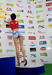 Model at 2nd stage of Tour de Slovenie 2009 from Kamnik to Ljubljana, 146 km, on June 19 2009, Slovenia. (Photo by Vid Ponikvar / Sportida)