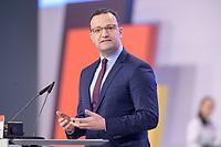22 NOV 2019, LEIPZIG/GERMANY:<br /> Jens Spahn, CDU, Bundesgesundheitsminister, haelt eine Rede, CDU Bundesparteitag, CCL Leipzig<br /> IMAGE: 20191122-01-184<br /> KEYWORDS: Parteitag, party congress