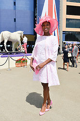 DENISE LEWIS at the first day of the 2014 Royal Ascot Racing Festival, Ascot Racecourse, Ascot, Berkshire on 17th June 2014.