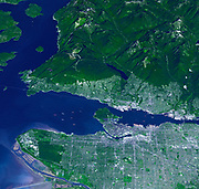 On Feb. 12, 2010, the 21st Winter Olympic Games opened in the city of Vancouver, British Columbia, Canada. Sept. 29, 2008.Satellite image.