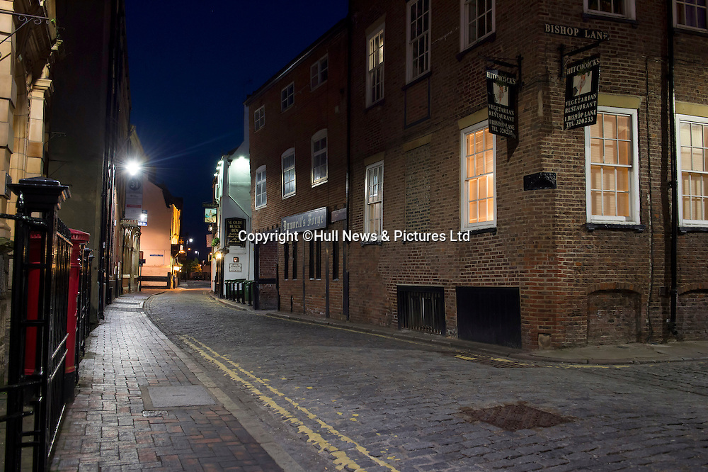 2 July 2015: Hull's Old Town in and around High Street at night.<br /> Picture: Sean Spencer/Hull News & Pictures Ltd<br /> 01482 772651/07976 433960<br /> www.hullnews.co.uk   sean@hullnews.co.uk