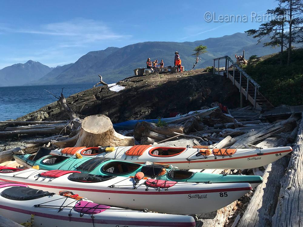Kayak Trip circumnavigating Hanson Island from Telegraph Cove