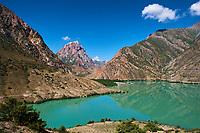 Tadjikistan, Asie centrale, Monts Fan, le lac d'Iskander Koul // Tajikistan, Central Asia, Fann Mountains, Turquoise Alexander Lake, Iskanderkul Lake