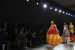 September 12, 2018 - New York, New York, U.S - September, 2018 - New York, New York  U.S. - Models on the runway at the CHIARA BONI LA PETITE ROBE S/S 2019 RTW show during New York Fashion Week 2018.  (Credit image (c) Theano Nikitas/ZUMA Wire/ZUMAPRESS.com (Credit Image: © Theano Nikitas/ZUMA Wire)