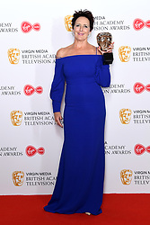 Fiona Shaw in the press room during the Virgin Media BAFTA TV awards, held at the Royal Festival Hall in London. Photo credit should read: Doug Peters/EMPICS