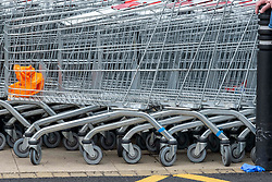 Some thought should go into the appropriate place to discard dispoabel gloves; on the ground is not one of them.   should be Shoppers are getting used to the new social distancing guidance.  As a nation which has been used to queing for centuries it has not been a problem to give people extra space.