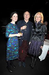 "Left to right, SCARLET OLIVER, EDGAR ASTAIRE and LADY ANNUNZIATA ASQUITH at a party to promote the ""American Songbook in London"" aseries of intimate concerts featuring 1959 Broadway songs, held at Pizza on The Park, Hyde Park Corner, London on 18th March 2009."