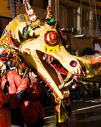 California: San Francisco. Dragon in Chinese New Year's Parade. Photo copyright Lee Foster. Photo # 29-casanf77761
