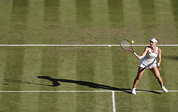2017?7?4?.       ?????1???——????????????.         7?4??Timea Babos?????.         ???????????2017????????????????????????????2?1???????Timea Babos???????.        ????????.(SP) BRITAIN-LONDON-TENNIS-WIMBLEDON-DAY 2.(170704) -- LONDON, July 4, 2017  Timea Babos of Hungary competes during the women's singles first round match with Caroline Wozniacki of Denmark during Day Two of the Championship Wimbledon 2017 at Wimbledon, London, Britain on July 4, 2017. (Credit Image: © Han Yan/Xinhua via ZUMA Wire)