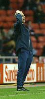 Photo. Andrew Unwin.<br /> Sunderland v Birmingham City, FA Cup Fifth Round, Stadium of Light, Sunderland 14/02/2004.<br /> The pressure gets to Sunderland's manager, Mick McCarthy.