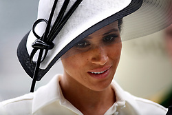 The Duchess of Sussex during day one of Royal Ascot at Ascot Racecourse.